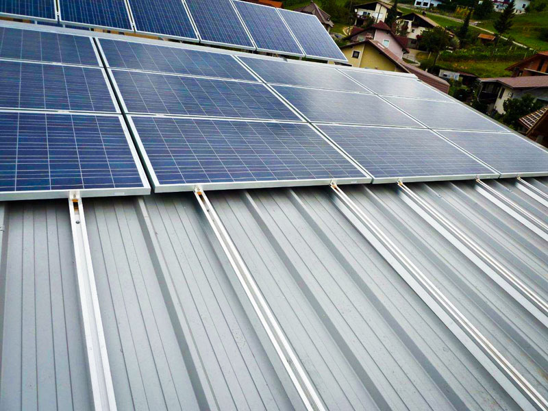 Podkonstrukcija za sončno elektrarno