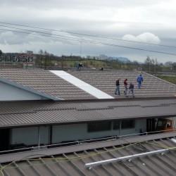Montaža sončne elektrarne na hali podjetja Hosekra