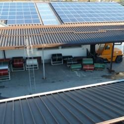 Sončna elektrarna na hali podjetja Hosekra