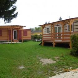 Dve različni mobilni hiški - MAGNOLIJA skupaj z modelom GINGER.