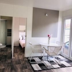 Notranjost mobilne hiške - dnevni prostor