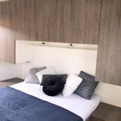 Notranjost mobilne hiške -  spalnica