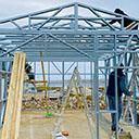 Konstrukcija za skladišče