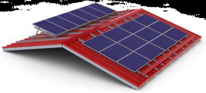 Celotna podkonstrukcija sončna elektrarna