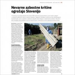 Nevarne azbestne kritine ogrožajo Slovenijo