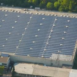 Sončna elektrarna iz zraka