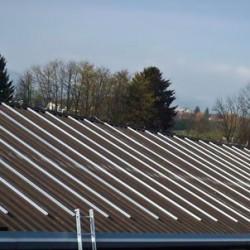 EH konstrukcija Hosekra montirana na streho z izolacijo