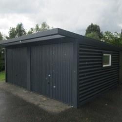 Dvojna antracid garaža + nadstrešek