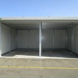 Dvojna garaža bela