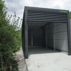 Antracit visoka enojna garaža