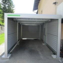 Garaža za avtomobil - enojna v sivi barvi