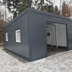 Antracit visoka garaža z izolacijo