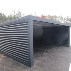 Enojna garaža z nadstreškom