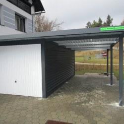 Podaljšana garaža z nadstreskom