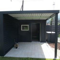 Manjša garaža z nadstreškom