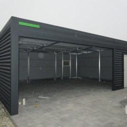 Široka garaža z rolo vrati in izolacijo