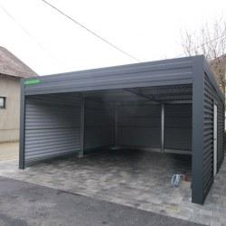 Avtomobilska garaža z rolo vrati - široka