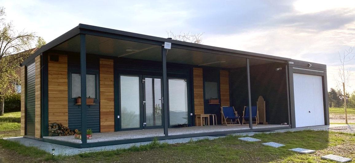 Mobilne hiška EKO+ z garažo