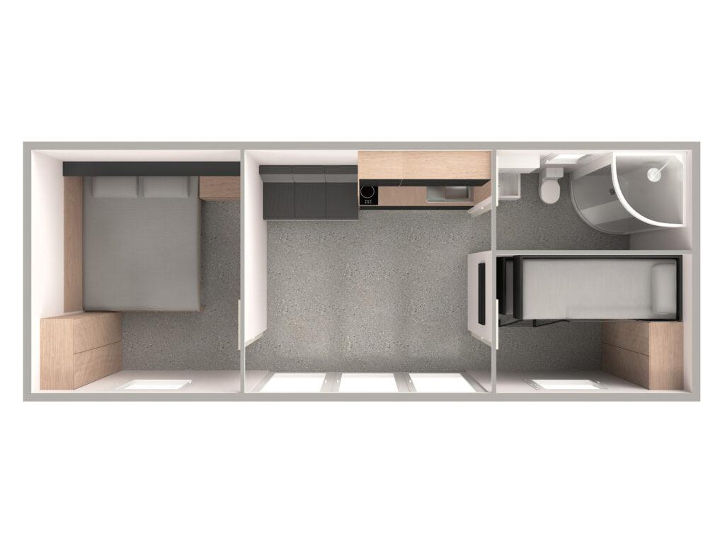 Tloris 2 (temno, kopalnica desno)