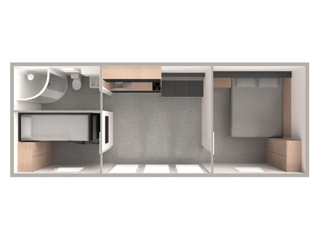 Tloris 2 (temno, kopalnica levo)