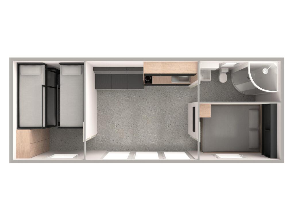 Tloris 3 (temno, kopalnica desno)