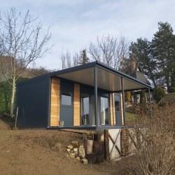 Hiška EKO+, nadstrešek in terasa