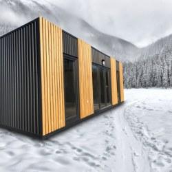Hiška Kaktus na snegu