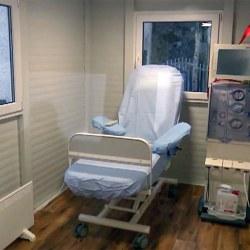 Kontejner za zdravstvene storitve, kot izolirano delovno mesto