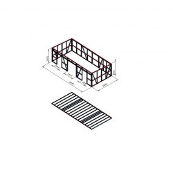 Hišica - enokapnica 8,5x4m