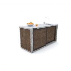 Zunanja kuhinja 180 rja beton antracit