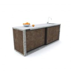 Zunanja kuhinja 240 rja beton antracit