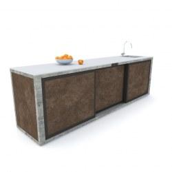 Zunanja kuhinja 300 rja beton antracit