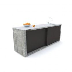 Zunanja kuhinja 240 beton antracit