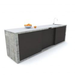Zunanja kuhinja 300 beton antracit