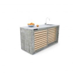 Zunanja kuhinja 180 beton deske
