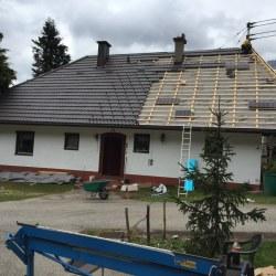 Hosekra gladka mat rjava prekrivanje strehe