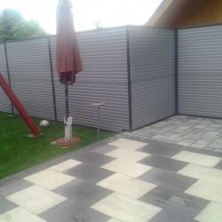 Vrtna ograja iz zidnih panelov